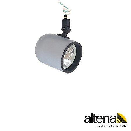 Spot Giga sem Canopla Platinado - Altena ILuminação