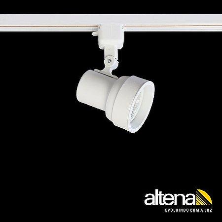 Spot Simi com Plug Altrac para Trilho Eletrificado Branco Mono - Altena Iluminação