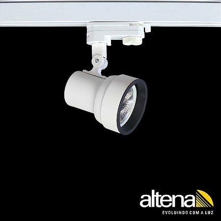 Spot Simi com Plug Altrac PRO para Trilho Eletrificado de três circuitos Branco Fosco - Altena Iluminação