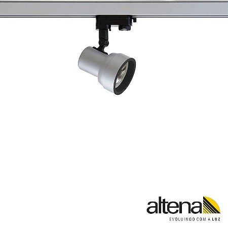 Spot Simi com Plug Altrac PRO para Trilho Eletrificado de três circuitos Platinado - Altena Iluminação