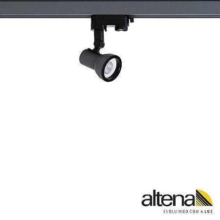 Spot Simi com Plug Altrac PRO para Trilho Eletrificado de três circuitos Grafite Fosco - Altena Iluminação