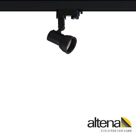 Spot Simi com Plug Altrac PRO para Trilho Eletrificado de três circuitos Preto Fosco - Altena ILuminação
