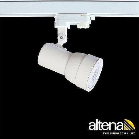 Spot Simi com Plug Altrac PRO para Trilho Eletrificado de três circuitos Branco Mono - ALtena ILuminação