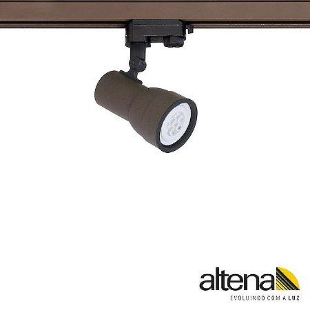Spot Simi com Plug Altrac PRO para Trilho Eletrificado de três circuitos Marrom Café - Altena ILuminação