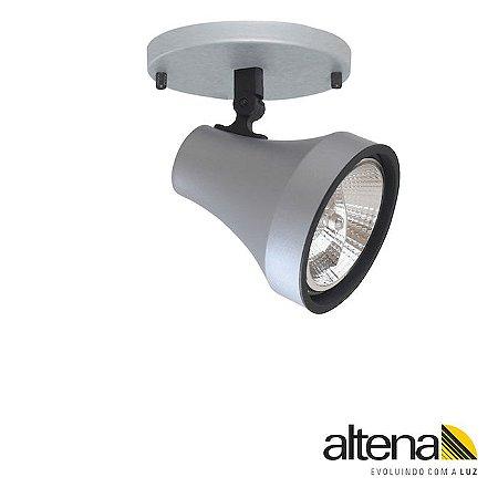 Spot Soft com canopla Platinado  - Altena Iluminação