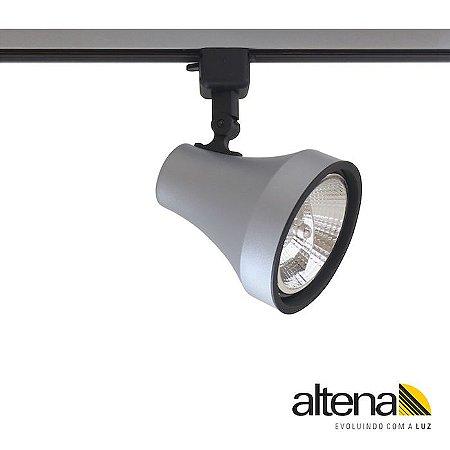 Spot Soft com Plug Altrac para Trilho Eletrificado Platinado - Altena Iluminação
