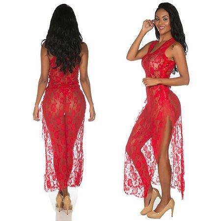 Hobby sexy longo - Vermelho