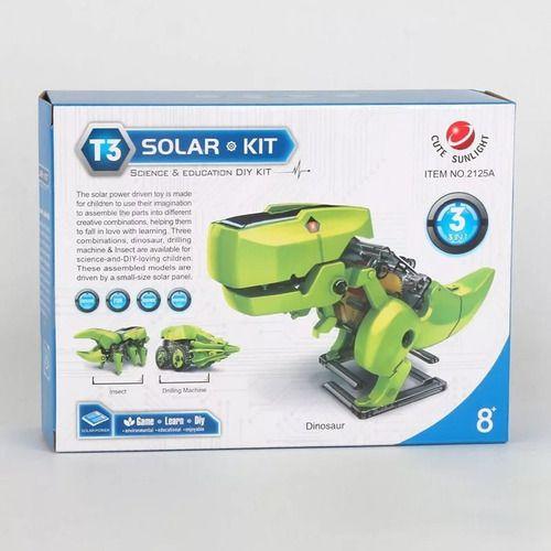 T3 Robô Dinossauro 3 em 1  Movido a Luz Solar - KIT Educacional STEAM