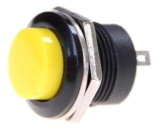Chave Botão Campainha - Amarelo