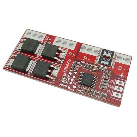 Módulo de Proteção de Carga para bateria de Ion de lítio BMS 4S 30A