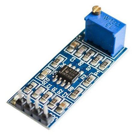 Módulo Amplificador Operacional LM358 - Ganho de 100 vezes
