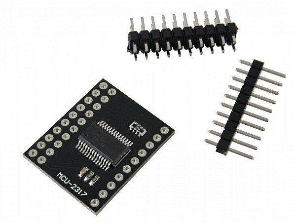 Modulo expansor de portas bidirecional MCP23017 16 Bits I2C SPI