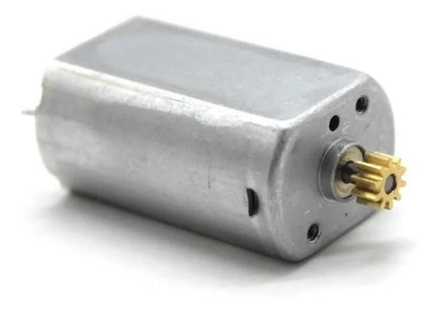 Micro Motor 180 6V 21.000 RPM com engrenagem