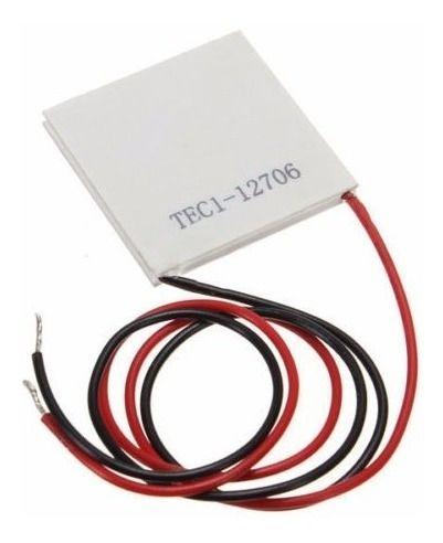 Pastilha Termoelétrica Peltier TEC1-12706 DC12V 6A 40x40x3,2mm