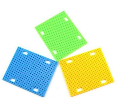 Base plastica FK7590 perfurada p/ projetos DIY 90x75x2.5mm