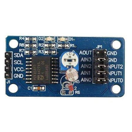 Expansor Conversor AD / DA PCF8591 com Sensor de Luz e Temperatura
