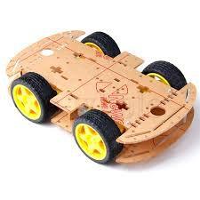 Kit Chassi com 4 rodas 4WD Acrílico
