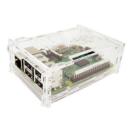Case para Raspberry Pi 3 Montável em Acrílico