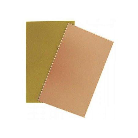 Placa de Fenolite 10 x 15 cm - Face Cobreada Simples
