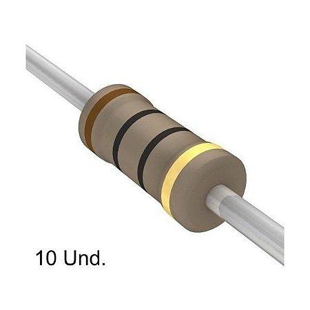 Resistor 1/4W 10R Ohms X 10 Unidades