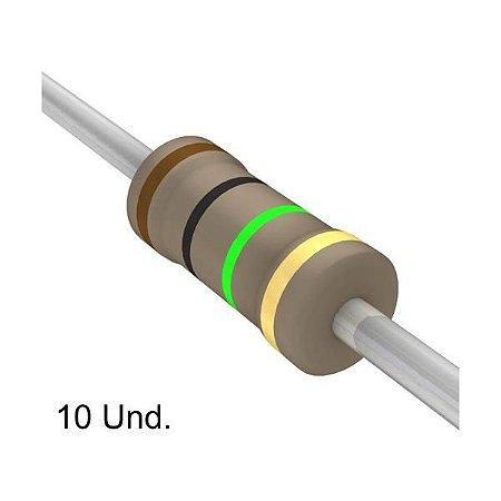 Resistor 1/4W 1M Ohms x 10 Unidades