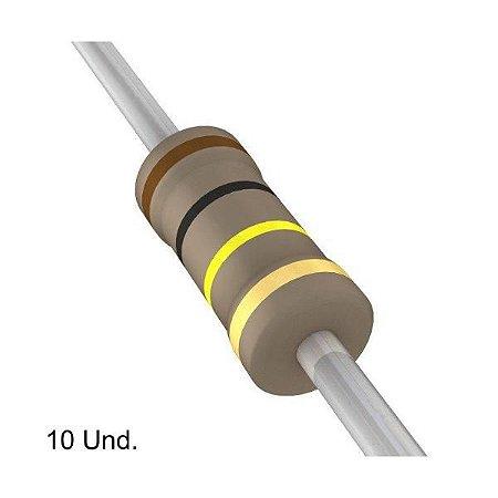 Resistor 1/4W 100K Ohms x 10 Unidades