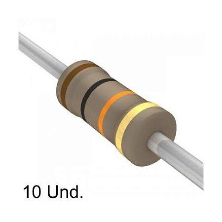 Resistor 1/4W 10K OHMS x 10 Unidades
