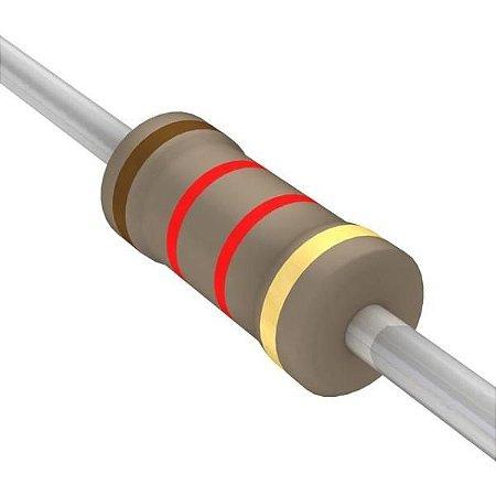 Resistor 1/4W 1K2 Ohms x 10 Unidades