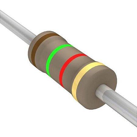 Resistor 1/4W 1K5 Ohms x 10 Unidades