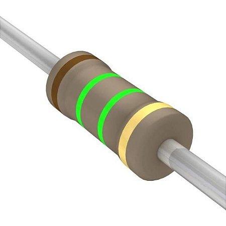 Resistor 1/4W 1M5 Ohms x 10 Unidades