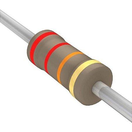 Resistor 1/4W 22K Ohms X 10 Unidades