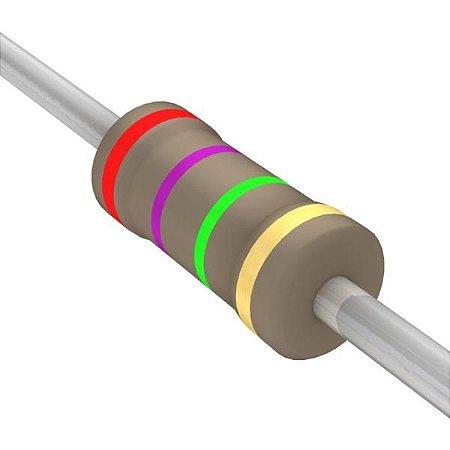 Resistor 1/4W 2M7 Ohms X 10 Unidades