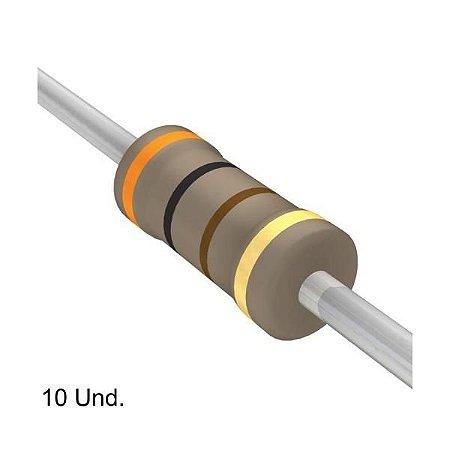Resistor 1/4W 300 Ohms x 10 Unidades