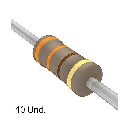 Resistor 1/4W 330R X 10 Unidades
