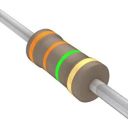 Resistor 1/4W 3M3 Ohms x 10 Unidades