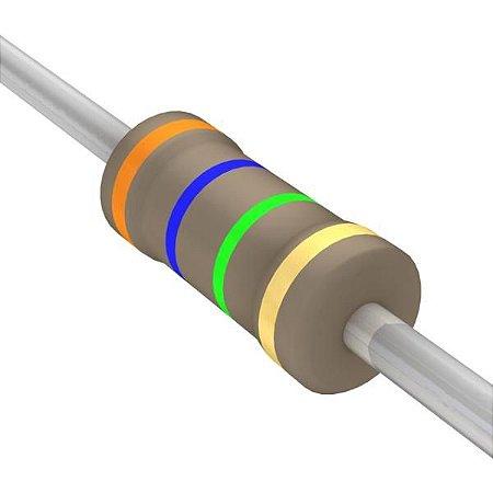 Resistor 1/4W 3M6 Ohms x 10 Unidades