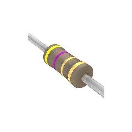 Resistor 1/4W 4R7 Ohms X 10 Unidades