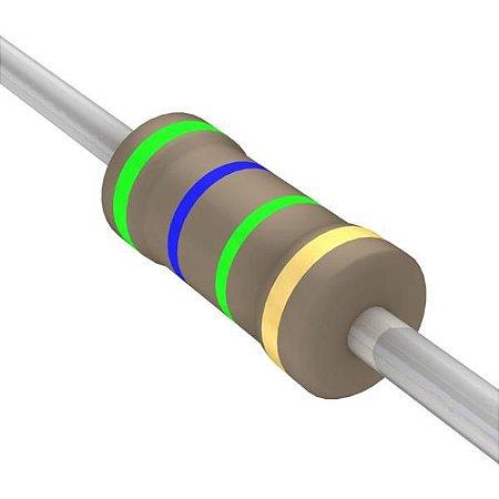 Resistor 1/4W 5M6 Ohms X 10 Unidades
