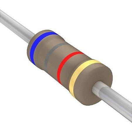 Resistor 1/4W 6K8 Ohms X 10 Unidades