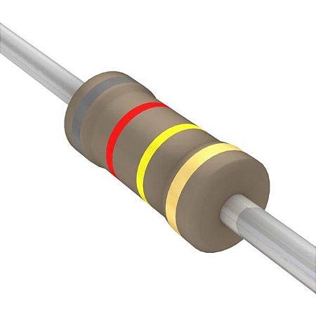 Resistor 1/4W 820R Ohms x 10 Unidades