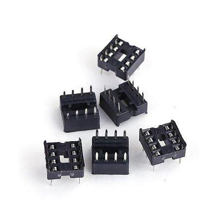 Soquete Estampado para Chip DIP 8 PINOS