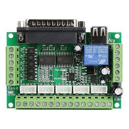 Controladora de CNC Interface Mach 3 Router Até 5 Eixos + Cabo Usb - 74HC