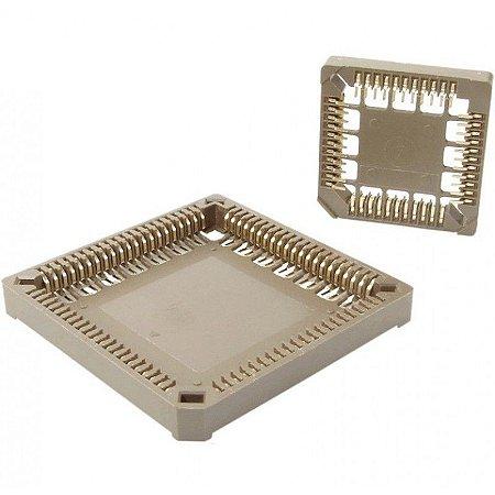 Soquete para CI PLCC SMD 52P