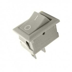 Mini Interruptor Chave Gangorra cinza 3A/250V - 6A/125V