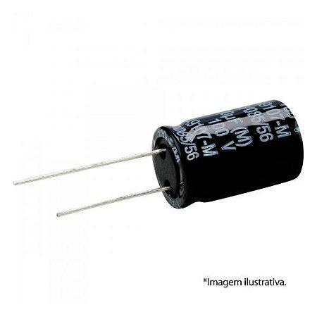 Capacitor Eletrolítico 100uFx16V - kit 3 unidades