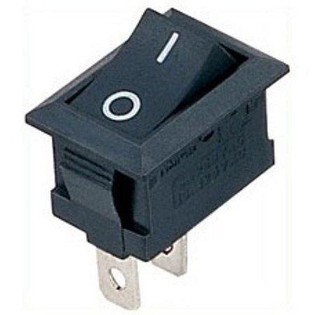 Interruptor Chave Gangorra 2 terminais preto 6A/250V - 10A/125V