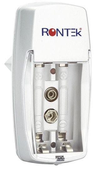 Carregador p/ pilhas AA, AAA e 9V - Rontek