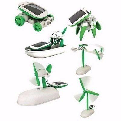 Robot Kits - Kit  6 em 1 para Robótica Educacional com Energia Solar