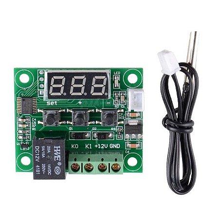 Termostato W1209 com Sensor de Temperatura