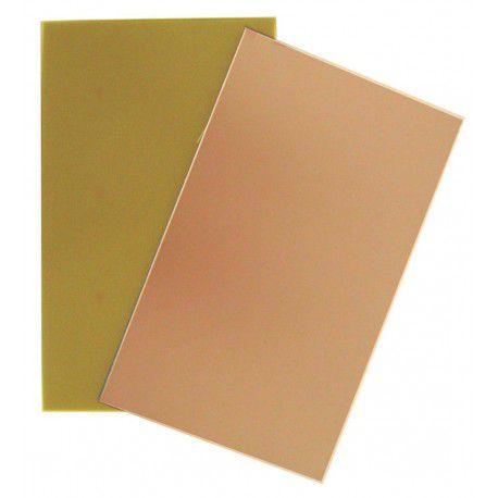 Placa de Fenolite 20 x 20 cm - Face Cobreada Simples